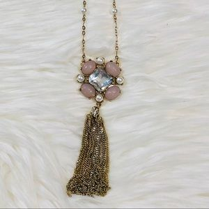 WHBM Long Pendent and Tassel Necklace